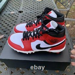Air Jordan 1 Retro Mid TD'Chicago' Football Cleat Red New Size 11 AR5604-106