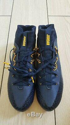 Authentic University of Michigan Nike Jordan Team Game Issued Football Cleats 12