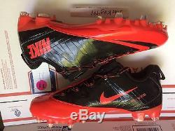 5a9900332311 Brand New Nike Vapor Carbon Fly 2 Td Size 11 Black Red Cleats With Bag  596630-060