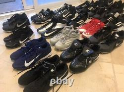 LOT 21 pair of cleats Nike, Adidas, Under Armour & Starter + 3 Gloves