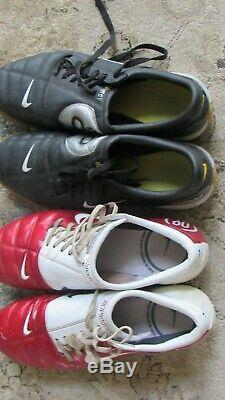LotRARE NIKE AIR ZOOM TOTAL 90 III US SIZE 9 FOOTBALL SOCCER CLEATS Two Pairs