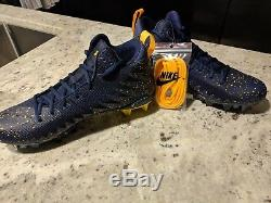 Michigan Air Jordan/Jumpman Nike 3/4 Cleat TEAM ISSUE! SZ 11