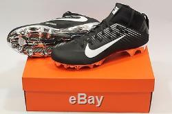 NEW Football Nike Vapor Untouchable 2 835831 Black/White withSilver Mirror Cleats