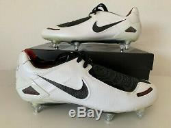 NIKE AIR VAPOR ZOOM TOTAL 90 FG FOOTBALL CLEATS White Size 11,5 10,5 45,5