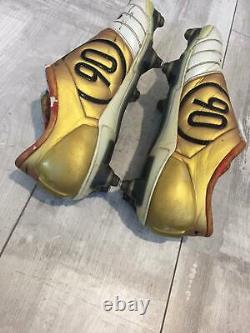 NIKE AIR ZOOM TOTAL 90 III FG Gold White T90 SOCCER CLEATS FOOTBALL BOOTS US 11