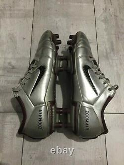 NIKE AIR ZOOM Total 90 III Football Cleats Silver Boots US7 UK6 Figo RARE Italy