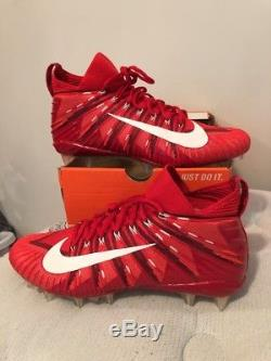 NIKE ALPHA MENACE ELITE Size 13 White Red 871519-616 Mens Football Cleats