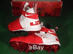 New Nike Lebron Soldier 11 TD Team Issue Ohio State Buckeyes Football Cleats 11