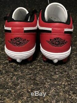 Nike Air Jordan 1 TD Low Chicago White Black Red Football Cleats Size 8.5