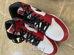Nike Air Jordan 1 TD Mid Football Cleats Chicago Red White Size 11 AR5604-106