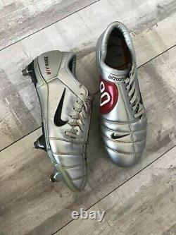 Nike Air Zoom Total 90 III SG Football Silver Cleats Boots Italy US9 UK8 EUR42.5