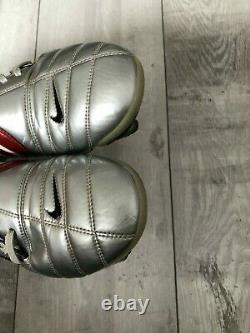 Nike Air Zoom Total 90 III SG Football Soccer Silver Boots Cleats US9 UK8