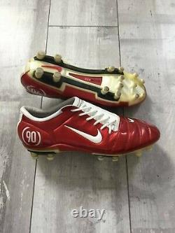 Nike Air Zoom Total 90 III Soccer Football Boots Cleats Red White US 9.5 UK 8.5