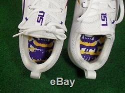 Nike LSU Tigers Vapor Untouchable Low TD Team Issue Football Cleats White 12