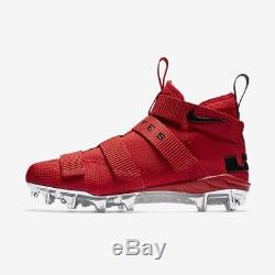 Nike Lebron Soldier 11 Football Cleat Ohio State Buckeyes OSU Red Size 10-13