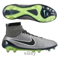 Nike Magista Obra FG Soccer Football Cleats Boots Size 9.5 Pewter Black Silver