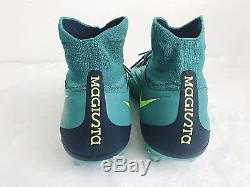 Nike Magista Orden II FG Soccer Cleats Football Boots Teal Volt Size 9.5