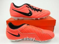 Nike Mens Rare T90 Shoot IV FG 472547-808 Pink White Soccer Cleat Football Boots