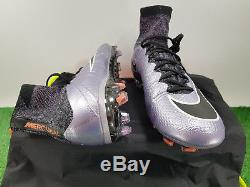 Nike Mercurial Superfly IV Fg Uk 8 Us 9 641858-580 Football Boots Soccer Cleats