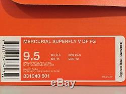 Nike Mercurial Superfly V DF FG Football Soccer Cleats 9.5 Pink 831940-601 NEW