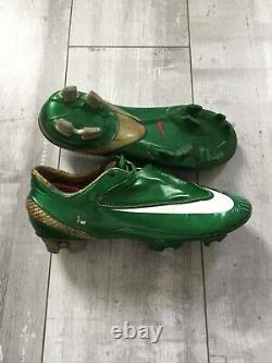 Nike Mercurial Vapor IV FG Soccer Cleats Football Boots Green Made in Italy 25.5