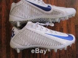 Nike Promo Sample Vapor Carbon Elite 2014 2.0 TD Football Cleats sZ 9 White Blue