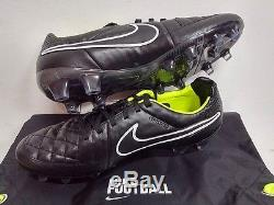 Nike Tiempo Legend V Fg Football Soccer Boots Cleats Stealth Pack