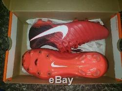 Nike Tiempo Legend VII Elite FG Soccer Cleat Football Boot KL Red 7 ACC Flyknit