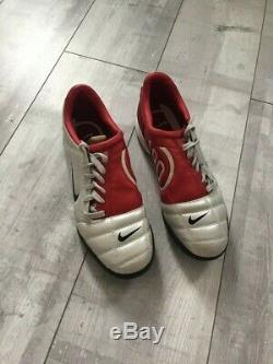 Nike Total 90 III Indoor Soccer Football Cleats Red Silver RARE US 10 UK 9 EUR44