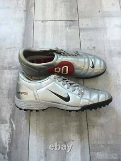Nike Total 90 III Indoor Soccer Football Cleats Red Silver US 12 UK 11 RARE