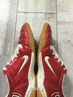 Nike Total 90 III Indoor Soccer Football Cleats Red White US 12 UK 11 RARE