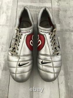 Nike Total 90 Zoom Air Football Cleats Silver Rare Boots Figo