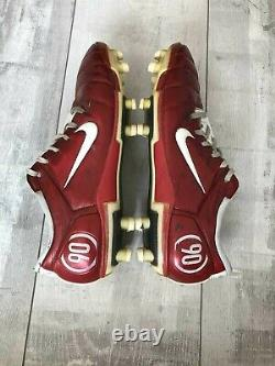 Nike Total 90 Zoom Air Italy Rare Football Cleats Professional White Red
