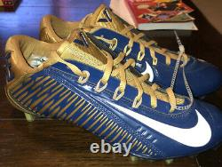 Nike Vapor Carbon 2.0 Football Cleats Size 9 Gold Navy Blue Brand New