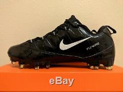 Nike Vapor Carbon Fly TD Zoom Football Cleats Black White (396256-011) size 10.5