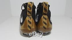 Nike Vapor Untouchable Football Cleats Gold Black 707455-020 Men Size 11.5
