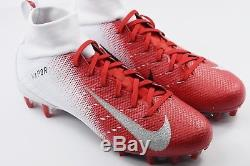 Nike Vapor Untouchable Pro 3 Mens Size 10 Football Cleats White Red Rare