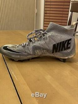 Nike Vapor Untouchable Speed TD Football Cleats Silver Size 12