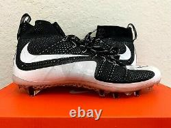 Nike Vapor Untouchable TD Flyknit Football Cleat Black White (698833-011) sz 11