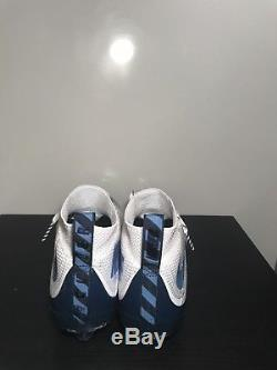 Nike Vapor Untouchable TD Football Cleats White/Navy/Baby Blue Size 11