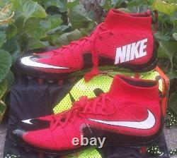 Nike Vapor Untouchable Td Football Cleats Size 12 Red Black White 707455-602