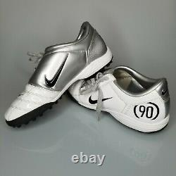 RARE Nike Total 90 III 2005 Indoor Soccer Football Cleats 5.5Y White/Silver
