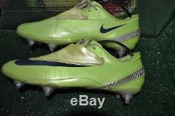 Rare Green Nike Mercurial Vapor IV Football Boots Cleats Size 9.5 Made In Italy