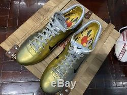 Super Rare! Nike Mercurial Vapor iii Gold And Silver Football Boots/cleats