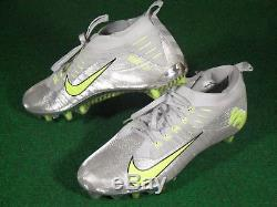 Used Mens Nike VPR Vapor Ultimate Low TD Football Cleats Silver Glitter Volt 12