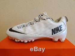 Chaussons De Football Nike Vapor Carbon Fly Td Zoom Blancs Noirs (596630-102) Taille 11,5