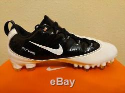 Chaussons De Football Nike Vapor Carbon Fly Td Zoom Noirs, Blancs (396256-002) Taille 10.5