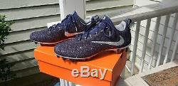 Hommes Nike Football Custom Cleats Taille 11 Marine Et Argent