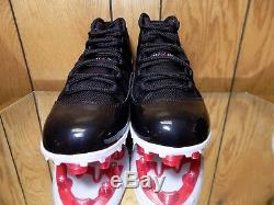 Nike Air Jordan XI Retro Td Bred Taille Crampons Ao1561-010 Hommes 8 Nouveau Ds
