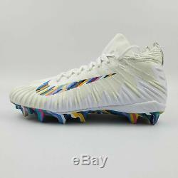 Nike Alpha Elite Catch Menace Crucial NFL Football Crampons Hommes Taille 10 Blanc Crc